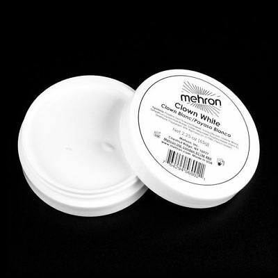 Mehron Clown White Professional Stage Face Body Cream Makeup Paint Mime 2.25Oz