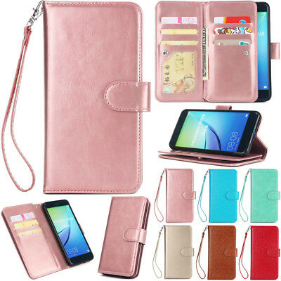 Luxury PU Leather Stand Case Wallet Cover For Hauwei P20 Pro P10 P9 P8 Lite 2017
