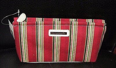 Longaberger  HOLIDAY STRIPE BAG ~ Cosmetics, Jewlery, MAKE UP, Catch all NEW