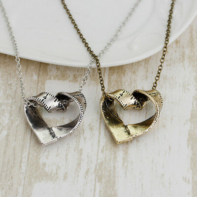Rotated Heart Tape Measure Necklace Pendant Ladies Pendant Sweater Chain LG