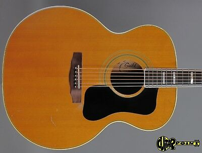 1975 Guild F-50 Navarre Flattop Jumbo  - Natural Spruce Top/ Flamed Maple   -