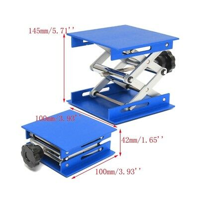 Aluminum Lab Lifting Platforms Stand Rack Scissor Jack Bench Lifter 10*10cm