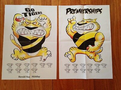 Richmond 'go Tigers' 2017 Herald Sun Afl Finals & Premierships Posters