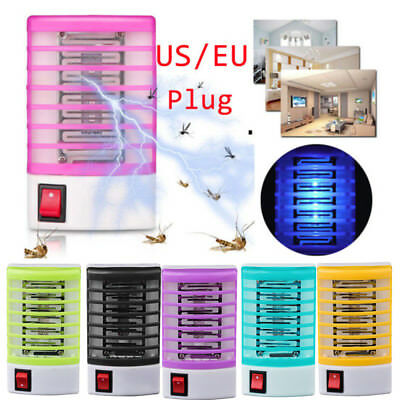 LED Socket Electric Mosquito Fly Bug Insect Trap Killer Zapper Night Lamp UK