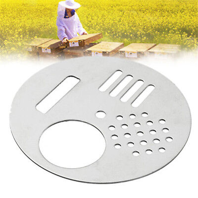 1Pc Stainless Steel Bee Hive Nuc Box Entrance Gates Beekeeping Equip Tool UK