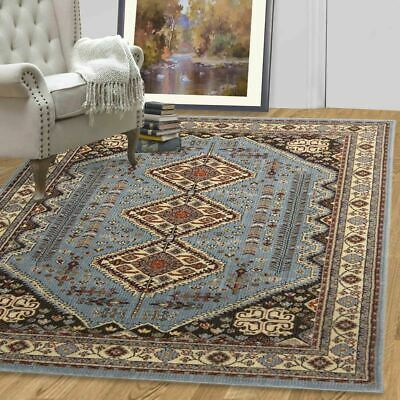 A2Z Large Blue Rugs Terracotta Rug Traditional Persian Oriental Floral Carpets