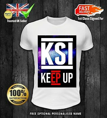 Kids Unisex KSI Keep Up T-Shirt YouTuber FIFA Gaming Vlog boys girls New