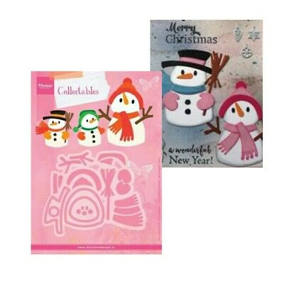 Christmas Eline's Snowman Metal Die Cut Set Marianne Cutting Dies COL1413 Winter