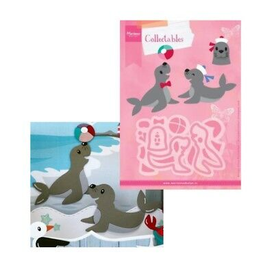 Eline's Seal Metal Die Cut Set Marianne Cutting Dies COL1457 Animals Zoo