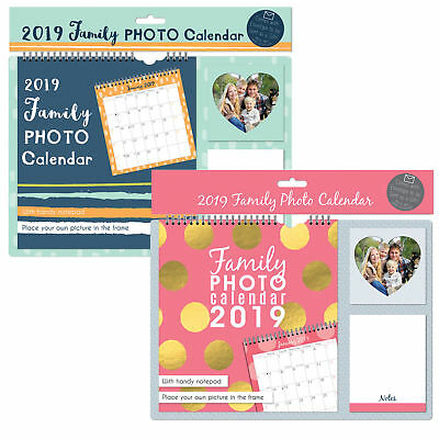 2019 Hanging Wall Calendar Personal Family Picture Photo Home Organiser Gift 361