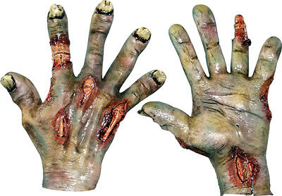 Rotted Zombie Latex Glove Hands Halloween Horror