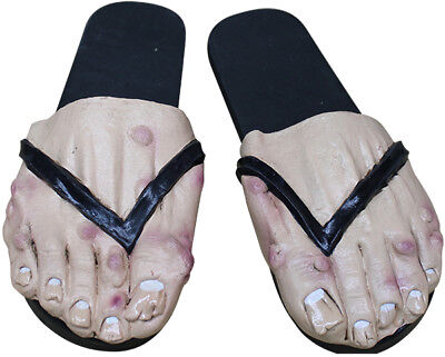Ladies Ugly Feet Latex Shoe Cover Halloween Costume Accessory