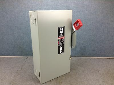 GE THN3362 Heavy Duty Indoor Safety Switch 60A 600Vac 3 Pole Non-Fuse