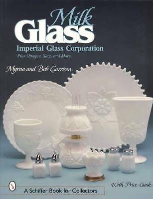 Vintage  Imperial Milk Glass Collector Guide incl Opaque Slag Black & Blue Glass