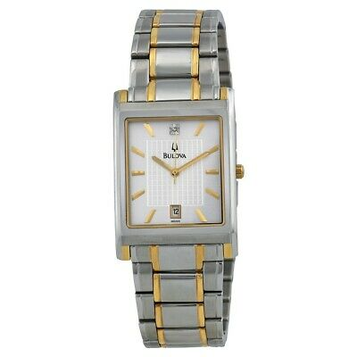 Bulova Men's 98D005 Two-Tone Gold Stainless Steel Bracelet Diamond Accent Watch