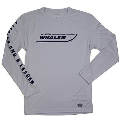 Boston Whaler 60th Anniversary Denali L/S Performance Tee Gray