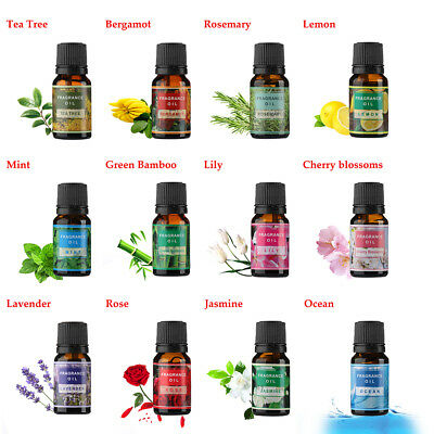 100% Pure Essential Oils Natural Aromatherapy Essential Oil Fragrance Aroma 10ml