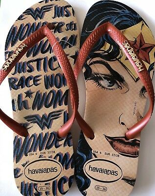 503ee7bc30a HAVAIANAS FLIP FLOPS Slim Wonder Woman Red UK 5 BR 37 38 EU 39 40 ...