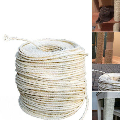 5/10/20m Sisal Rope CAT SCRATCHING POST Claw Control Toy Crafts Pet Cord
