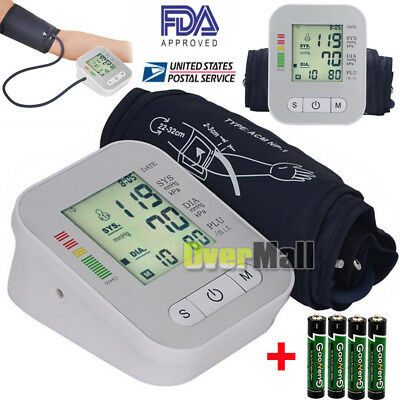 Full Automatic LCD Digital Upper Arm Blood Pressure Monitor With Voice+Batteries
