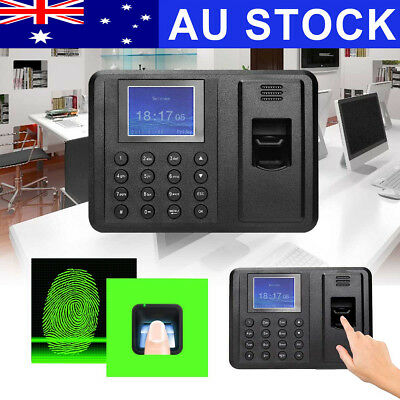 USB Password Fingerprint Attendance Employee Payroll Time Recorder Ring Clock