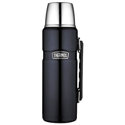 Thermos Stainless King Vacuum Insulated Beverage Bottle 40 oz.  SS/Midnight Blue