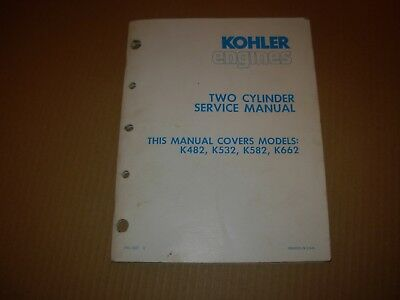 Kohler K482 K532 K582 K662 Two Cylinder Engine Service Manual