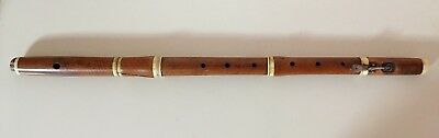 Unusual boxwood flute by FAVRE in LYON France,18th century