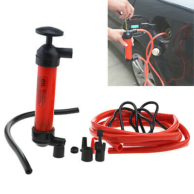 Car Manual Hand Gas Oil Liquid Syphon Transfer Pump Siphon Pump Kit Hose Home