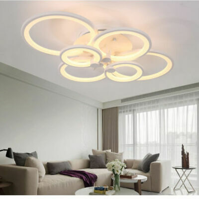 Modern Chandelier Lamp LED Acrylic Ceiling Light with 6 Lights Remote Control