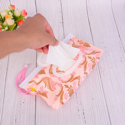 Clutch and Clean Wipes Carrying Case Eco-friendly Wet Wipes Bag Cosmetic Pouch D