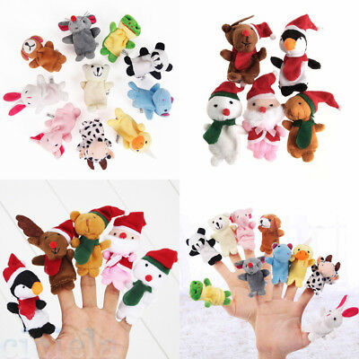 Cartoon Finger Puppets Cloth Plush Doll Baby Kids Educational Hand Animal Toy