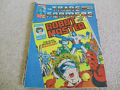 The Transformers 55 - UK Marvel - 5th April 1986 - Very Good Condition
