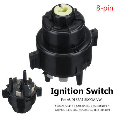 Ignition Starter Switch 8 Pin For AUDI A3 A4 VW SEAT SKODA 4A0905849B 893905849