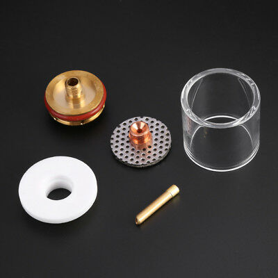 5pc TIG Welding Torch Pyrex Nozzle Cup Kit for WP9/20/25 Series Gas Lens 3/32''