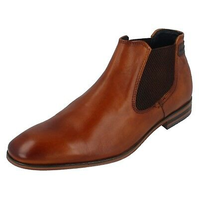 Bugatti Mens Leather Chukka Casual Chelsea Desert Boots Ankle Lace Up Sizes SALE