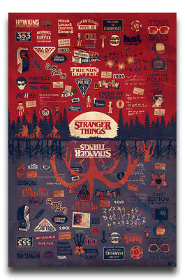 Stranger Things The Upside Down Poster New - Maxi Size 36 x 24 Inch