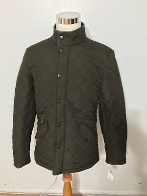 NWT Men's BARBOUR Powell Quilted Jacket, Small, Olive