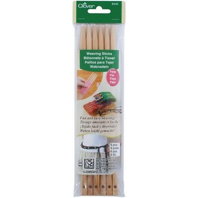 Clover Steel Weaving Sticks, Fine - Sticks 6 Pieces Plus Tapestry Needle Select