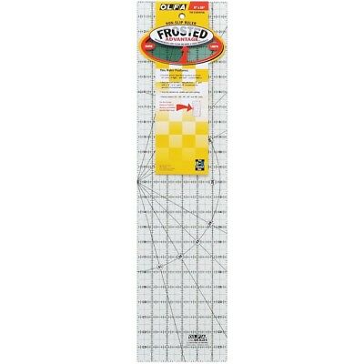 Olfa 1-piece Transparent Frosted Acrylic Quilt Ruler, 6 x 24-inch - Ruler