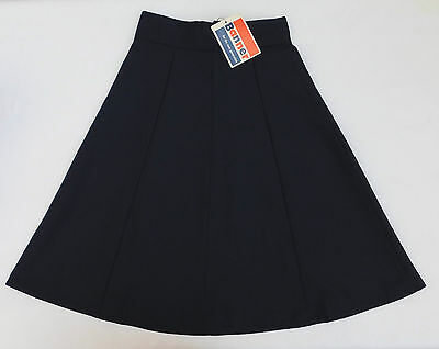 "Girls vintage skirt Banner school uniform Navy Blue UNUSED 1970s Waist 26"" 28"" B"