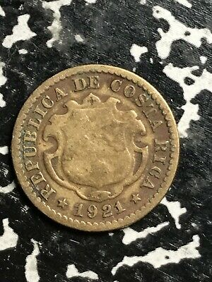 1920 Costa Rica 10 Centimos Lot#l491 Low Mintage Central America