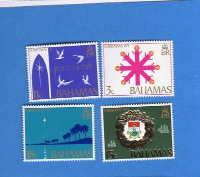 Bahamas Sc 331-334 1971 Christmas Set of 4 UNUSED NH OG