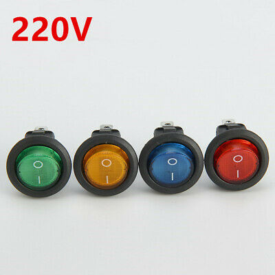 2 Position ON/OFF Round Rocker Switch LED illuminated Car Dashboard Dash Boat