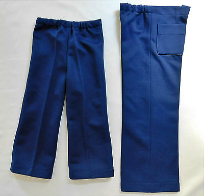 Childrens vintage flared trousers 1960s Unisex Navy blue boys or girls UNUSED
