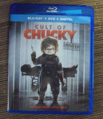 CULT OF CHUCKY BLU-RAY unrated horror Brad Dourif Fiona Dourif w/DVD