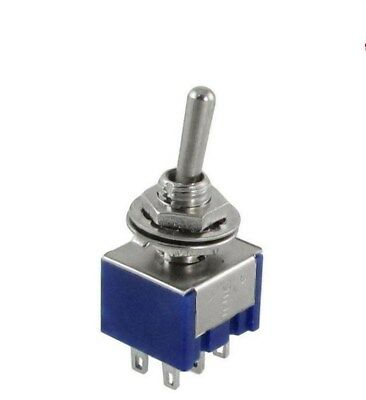 Mini Latching Toggle Switch DPDT ON-ON AC 6A/125V 3A/250V 6 Pin MTS-202