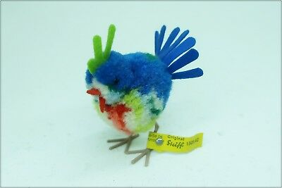 alter STEIFF WOLL EXOTEN VOGEL PARADIES EXOT blau old woolen EXOTIC BIRD 1509,42