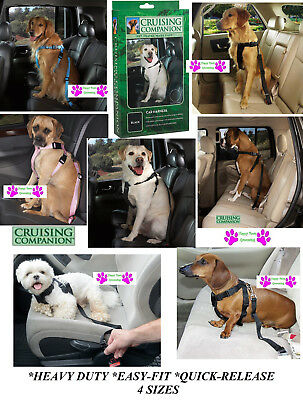 Dog CAR SAFETY HARNESS Seat Belt Auto Truck*Adjustable*Heavy Duty*QUICK EZ FIT