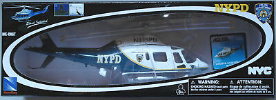 NewRay Agusta A119 Koala NYPD Hubschrauber Helicopter 1:43 OVP New York Police